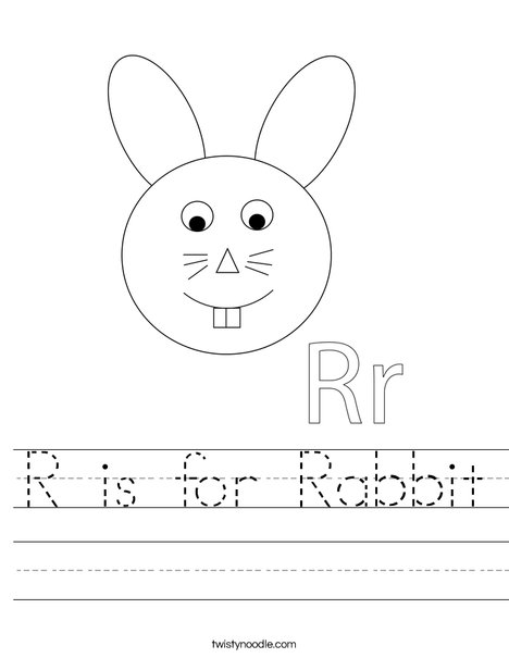 Rabbit Head Worksheet