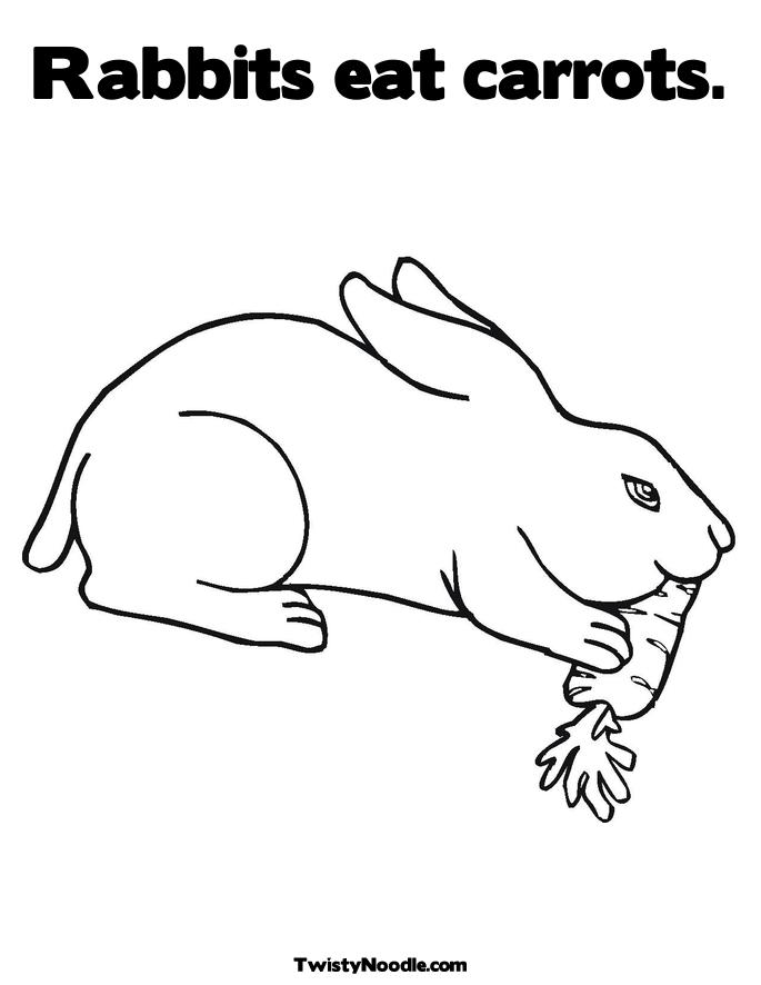 c is for carrot coloring pages - photo #20