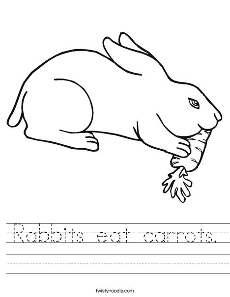 Rabbit Eating Worksheet