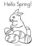 Hello Spring Coloring Page