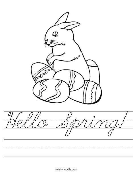 Hello Spring! Worksheet
