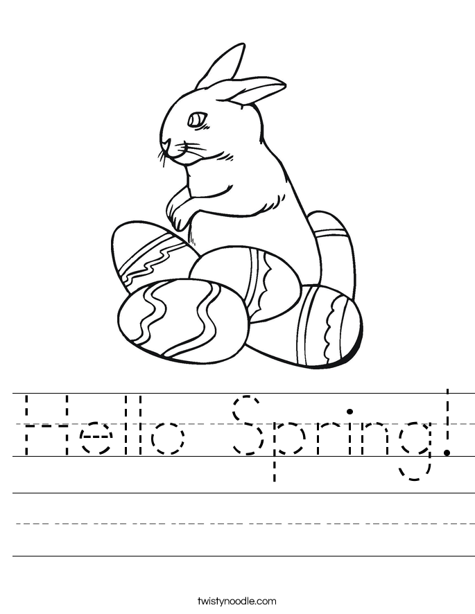 Hello Spring! Worksheet