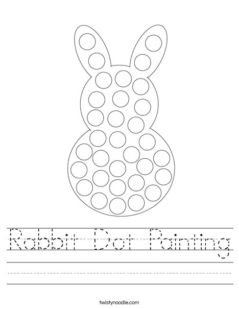 Rabbit Dot Painting Worksheet