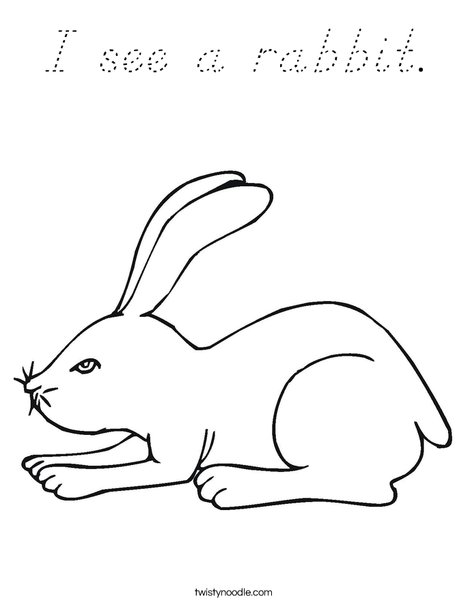 White Rabbit Coloring Page