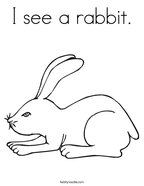 I see a rabbit Coloring Page