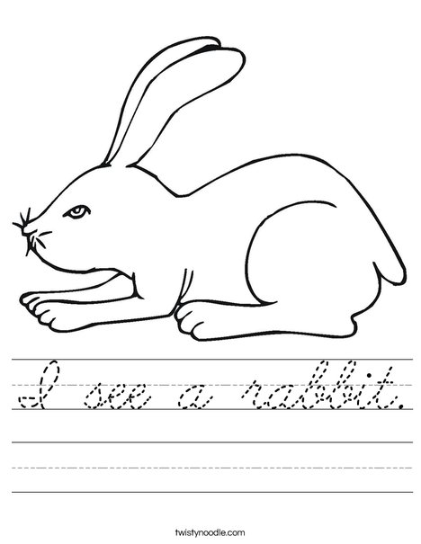 White Rabbit Worksheet