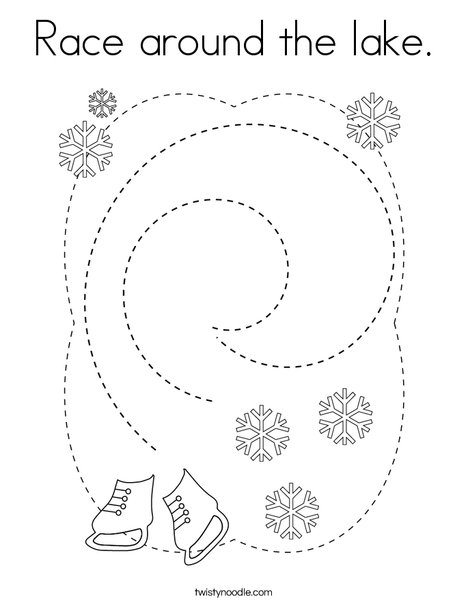Race around the lake! Coloring Page