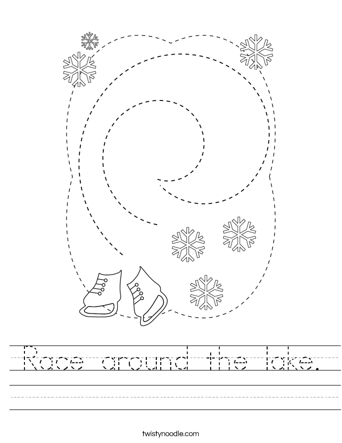 Race around the lake. Worksheet