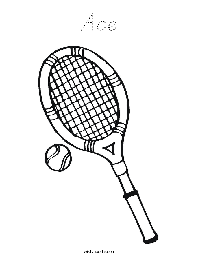 Ace Coloring Page