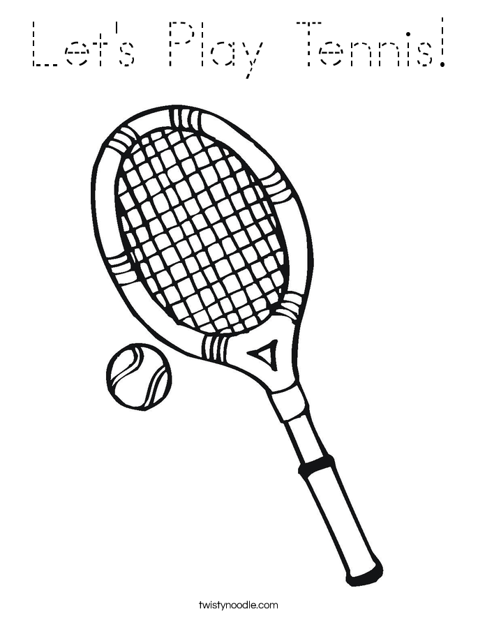 Let's Play Tennis! Coloring Page