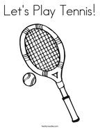 Let's Play Tennis Coloring Page