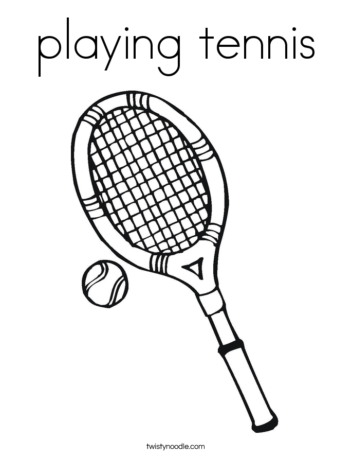 playing tennis Coloring Page