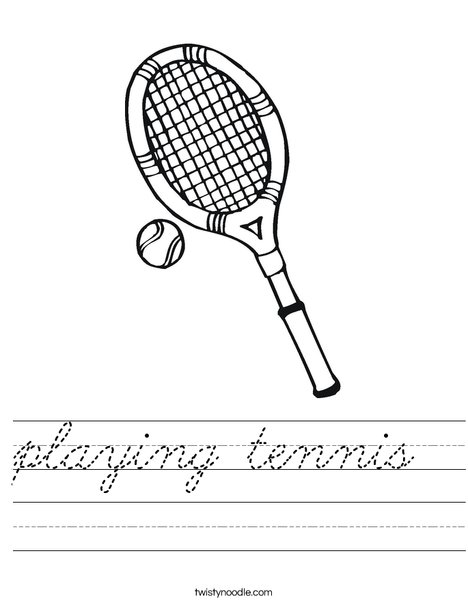 Racket and Ball Worksheet