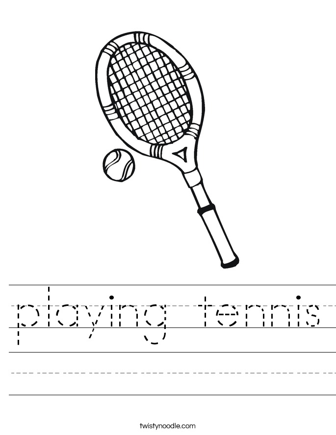 playing tennis Worksheet