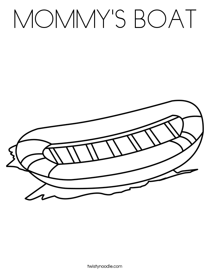MOMMY'S BOAT Coloring Page