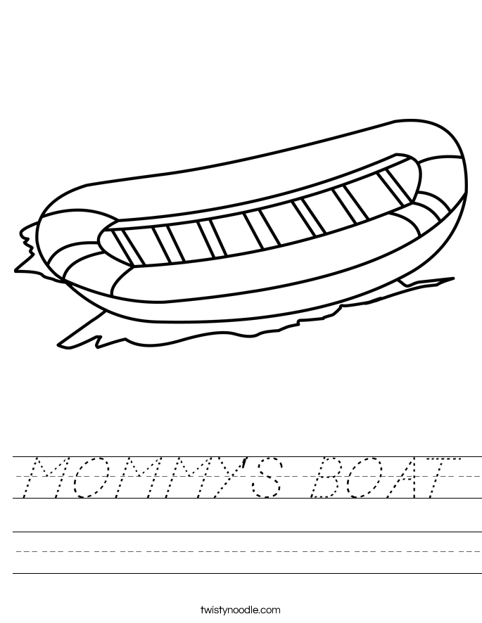 MOMMY'S BOAT Worksheet