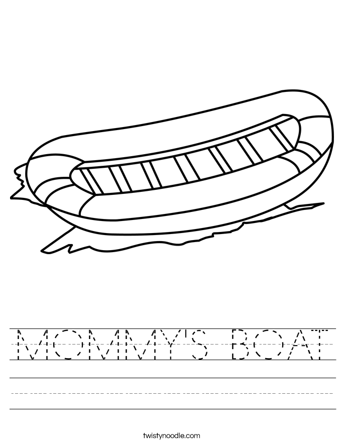 MOMMY'S BOAT Worksheet