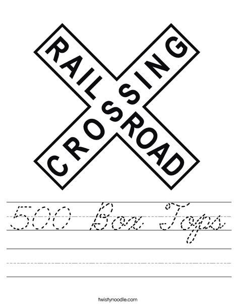 Railroad Crossing Sign Worksheet