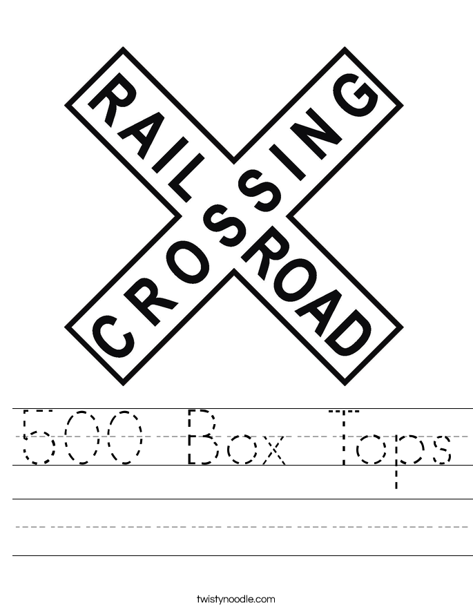 500 Box Tops Worksheet