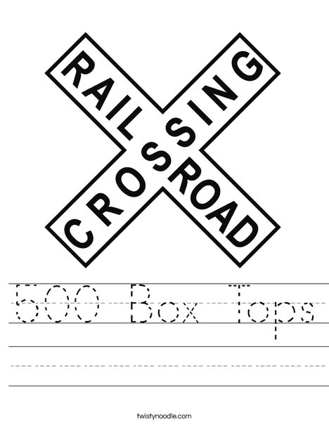 Railroad Crossing Sign Worksheet