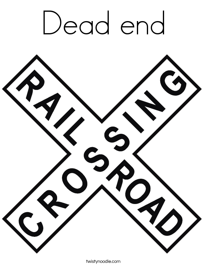 Dead end Coloring Page