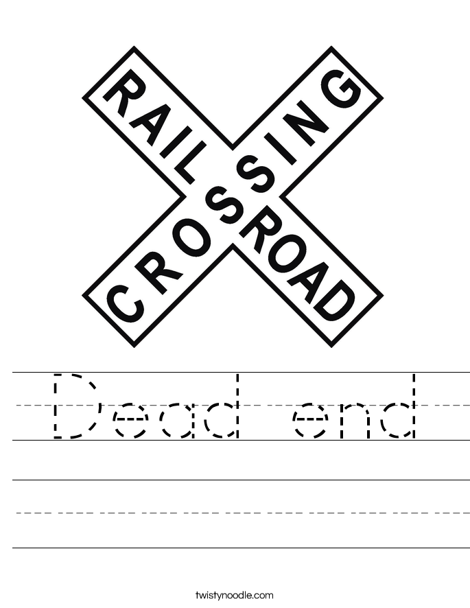 Dead end Worksheet