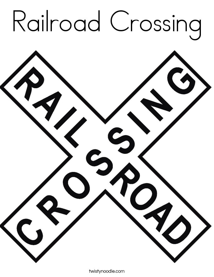 Railroad Crossing Coloring Page Twisty Noodle