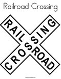Railroad CrossingColoring Page