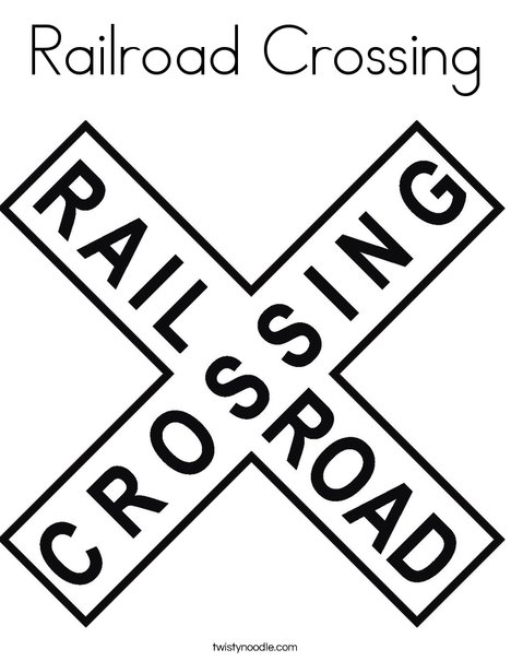 photograph about Railroad Crossing Sign Printable referred to as Railroad Crossing Coloring Web page - Twisty Noodle