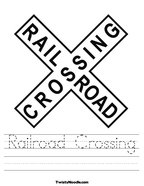 Railroad Crossing Handwriting Sheet