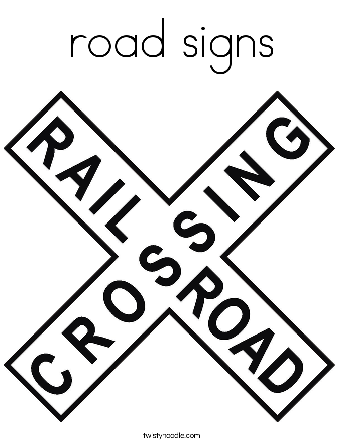 road signs Coloring Page