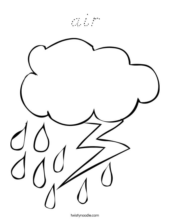 air Coloring Page