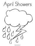 April ShowersColoring Page
