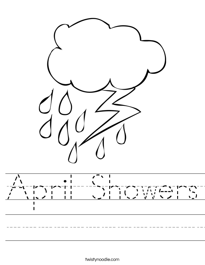 April Showers Worksheet