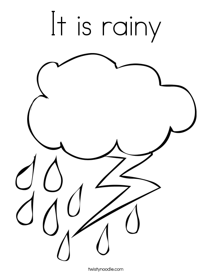 It is rainy Coloring Page