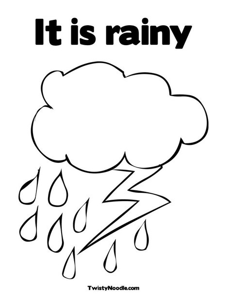 coloring pages for rainy days - photo#36
