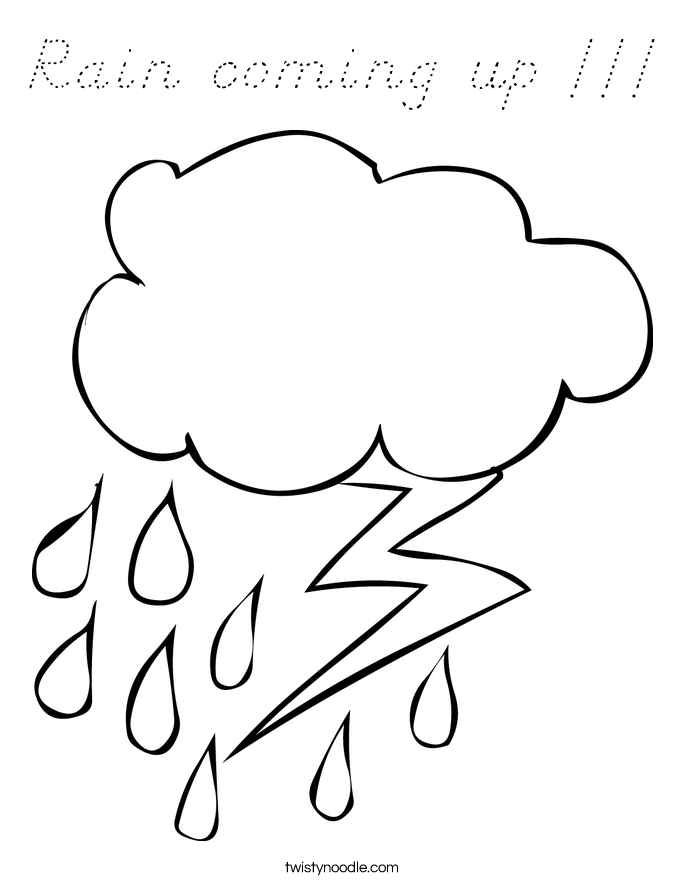 Rain coming up !!! Coloring Page
