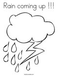 Rain coming up !!!Coloring Page