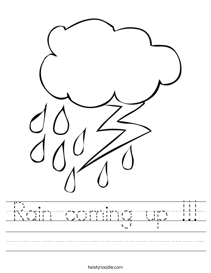 Rain coming up !!! Worksheet