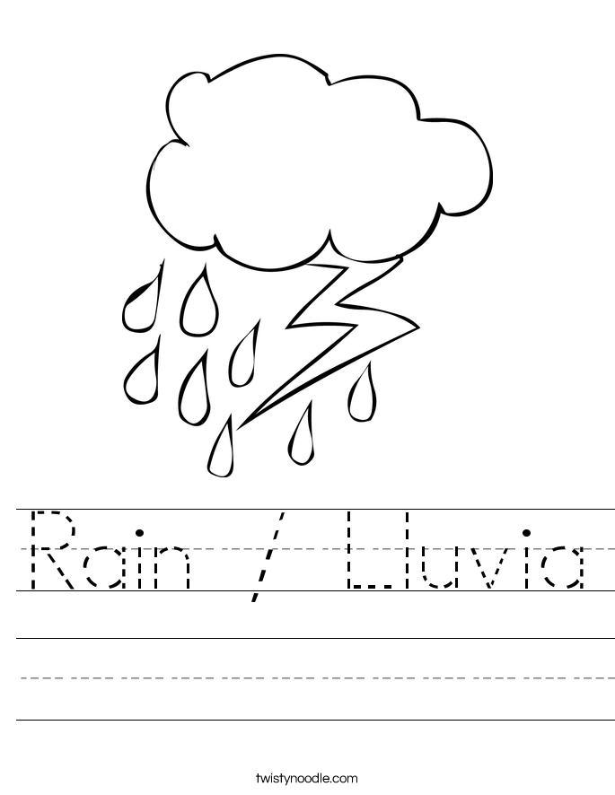 Rain / Lluvia Worksheet