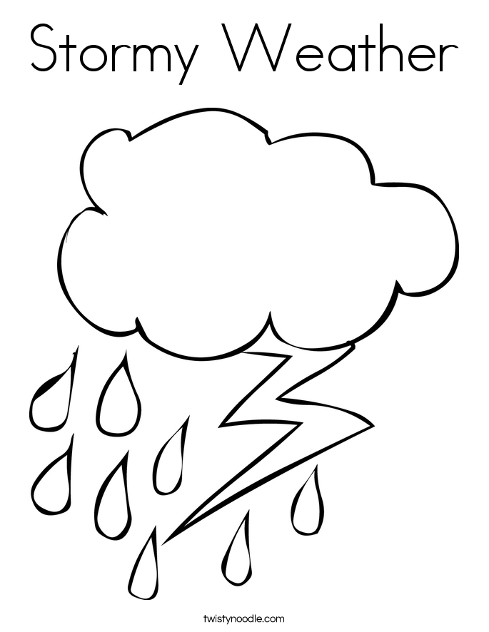 Stormy weather coloring page twisty noodle for Coloring pages weather