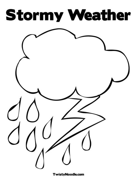 Rain Coloring Pages #8