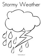 Stormy Weather Coloring Page