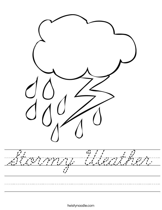Stormy Weather Worksheet