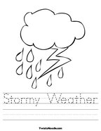 Stormy Weather Handwriting Sheet