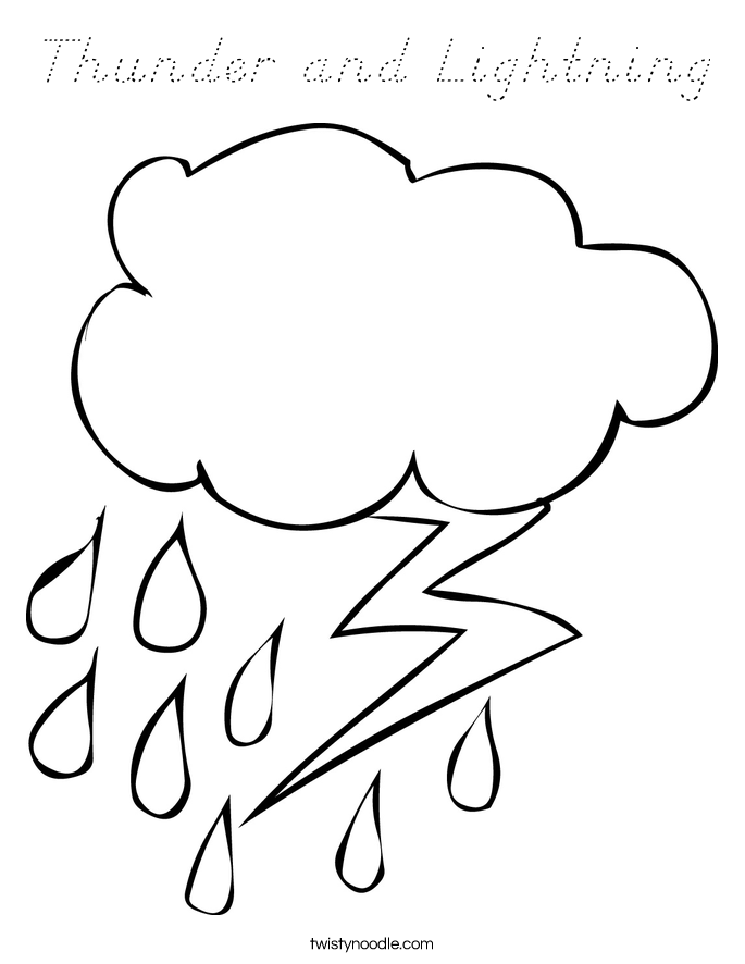 Thunder and Lightning Coloring Page
