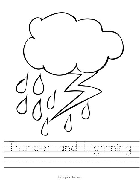 Rain and Lightning Worksheet