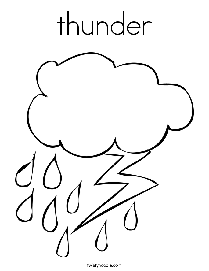 Rain Coloring Pages #3