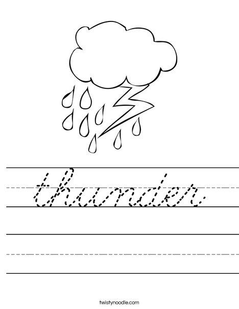 Rain and Lightning Worksheet