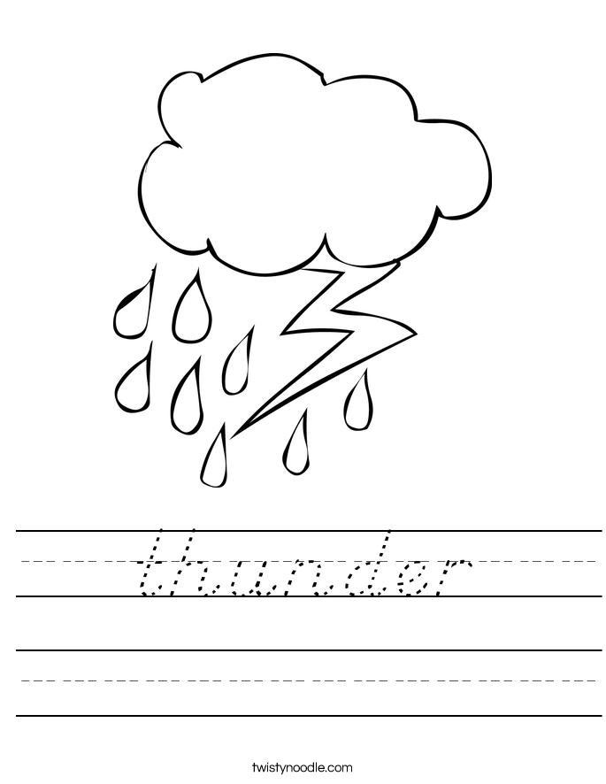 thunder Worksheet